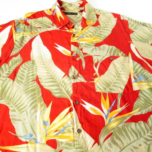 Natural Issue Other - Bright Palm Pattern Hawaiian Shirt Men's Large